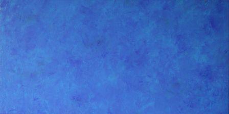 b239-Swinging blue,80x40x4cm, Acryl auf Leinwand, 2005